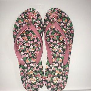 Coach women's floral flip flops size 8B